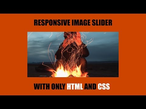 how to create an image slideshow in only html & css | CSS animation responsive image slider thumbnail