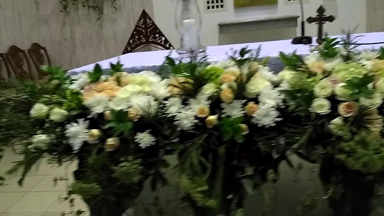 Dekorasi Gereja Selma Florist Youtube Rangkaian bunga altar gereja