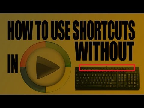 HOW TO USE SHORTCUTS IN WMP WITHOUT MULTIMEDIA KEYBOARD