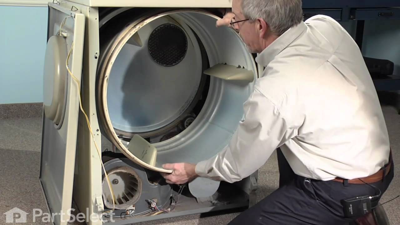 dryer repair replacing the tumbler motor belt whirlpool part whirlpool electric dryer tension pulley diagram blow drying [ 1280 x 720 Pixel ]
