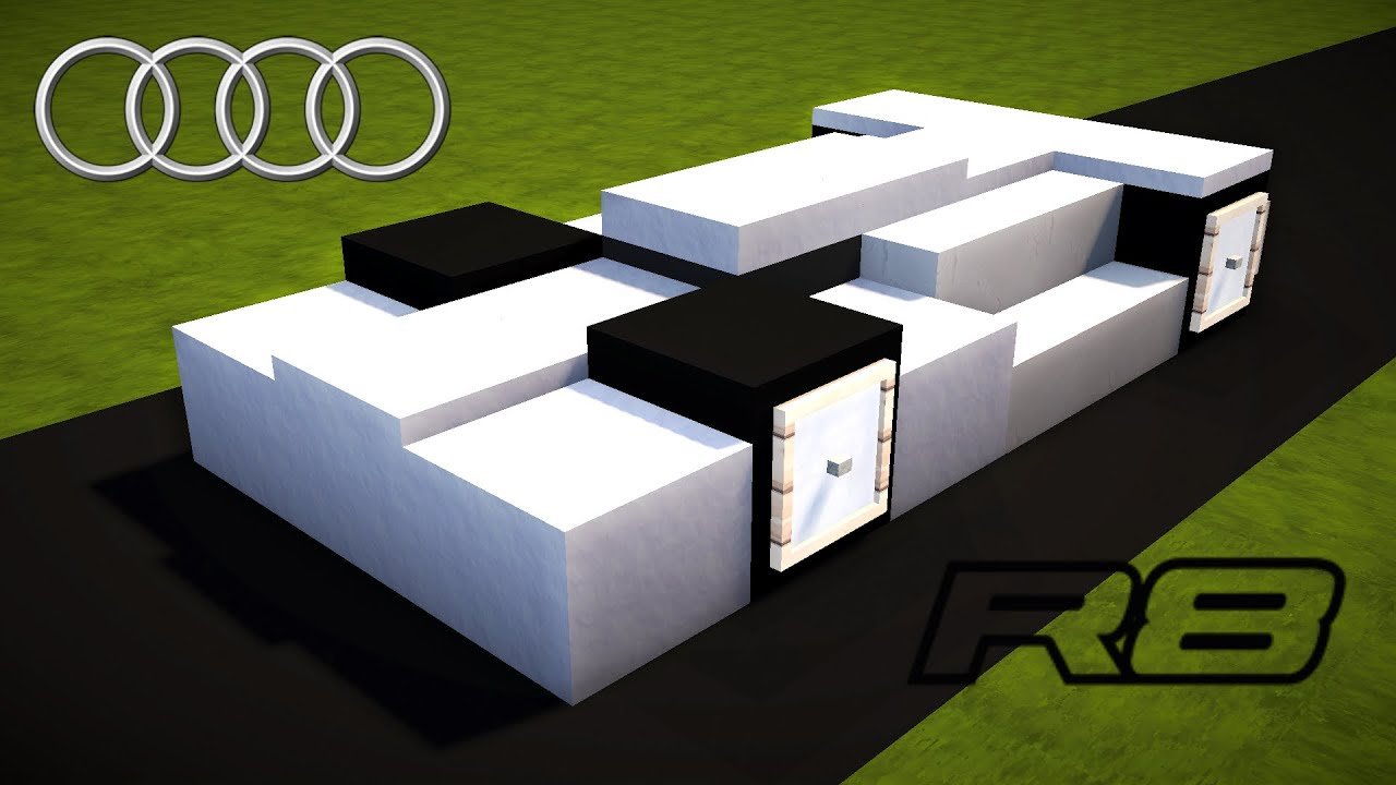 Minecraft How to Build Audi R8