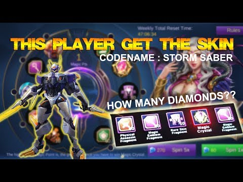 Mobile Legends - How Many Diamonds Needed For Saber Codename: Storm Skin???