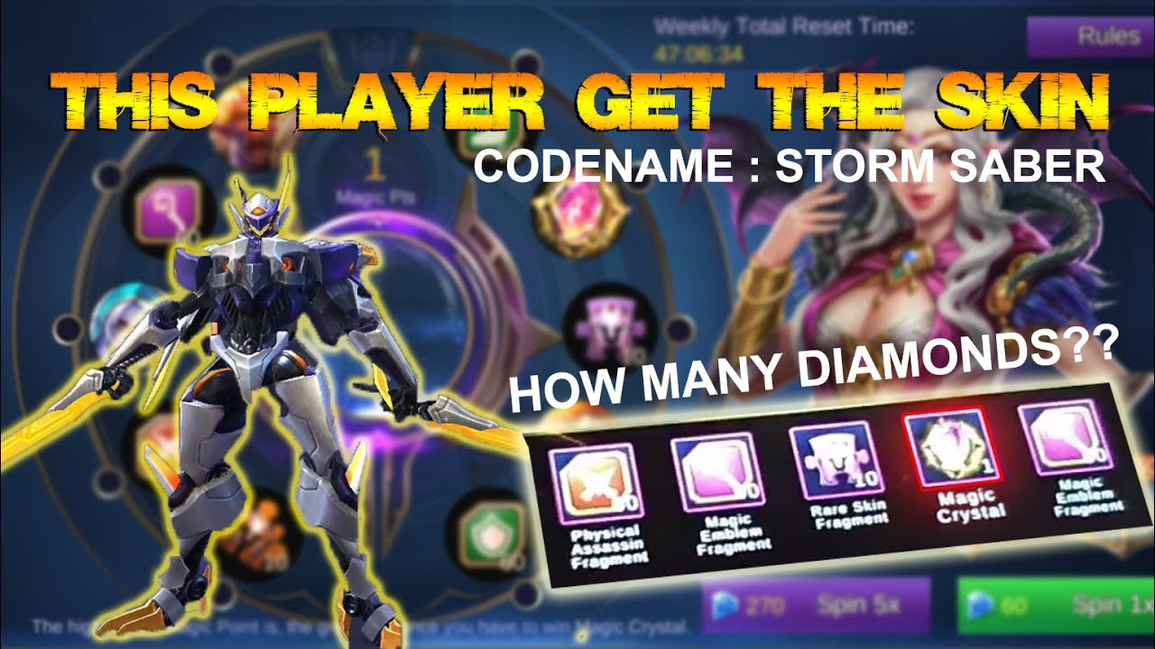 Mobile Legends  How Many Diamonds Needed For Saber