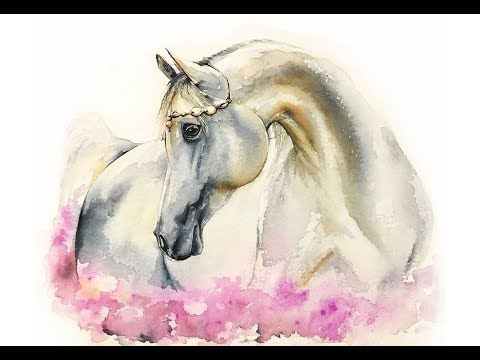Horse in Watercolors Painting Demo