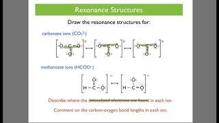 Chemical Bonding 5 - Delocalisation