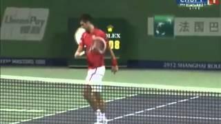 Murray vs. Djokovic - ATP Shanghai 2012 - Angry Djokovic destroys racket