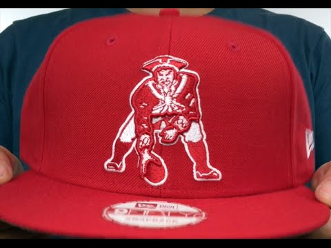 Patriots  THROWBACK TEAM-BASIC SNAPBACK  Red-White Hat by New Era ... bd1ad186477