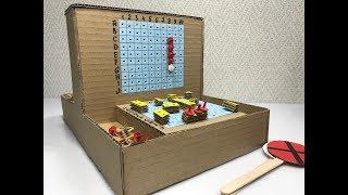 Sea battle. Cardboard game