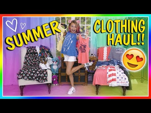KAYLA'S SUMMER CLOTHES HAUL 2017 | We Are The Davises