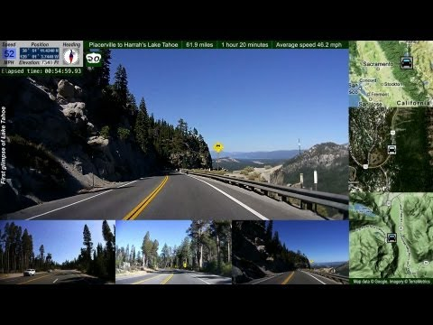 Hwy 50 Placerville to Lake Tahoe 62 miles in 6 min on a sunny fall day (timelapse / drivelapse)