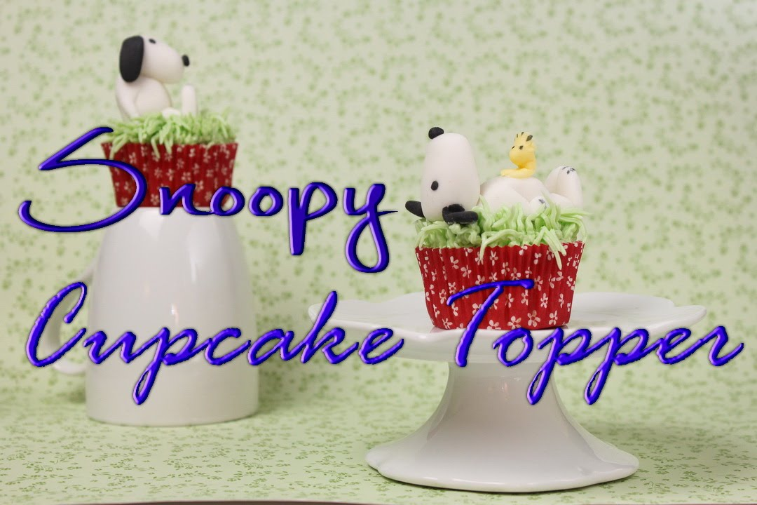 snoopy cupcakes dekorieren fondant dekoration f r torten cupcakes s e cupcakes youtube. Black Bedroom Furniture Sets. Home Design Ideas