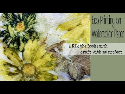 Eco Printing on Watercolor Paper
