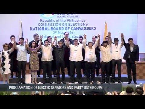 The new senators-elect of the Republic of the Philippines