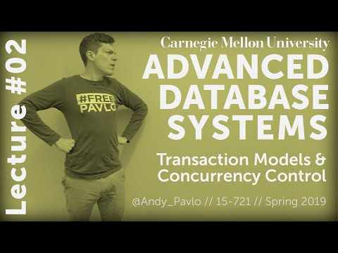 CMU Advanced Database Systems - 02 Transaction Models & In-Memory Concurrency Control (Spring 2019)
