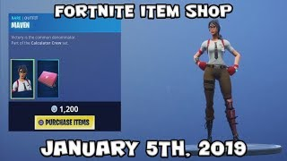 FORTNITE ITEM SHOP (NEW) MAVEN SKIN SET (JANUARY 6th, 2019)