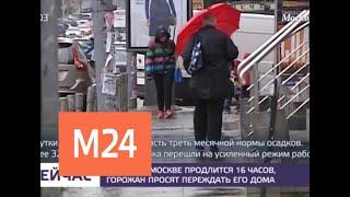 В столице действует желтый уровень погодной опасности - Москва 24