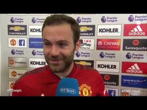 Juan Mata and Marouane Fellaini post-match interview after 3-2 win against Newcastle United