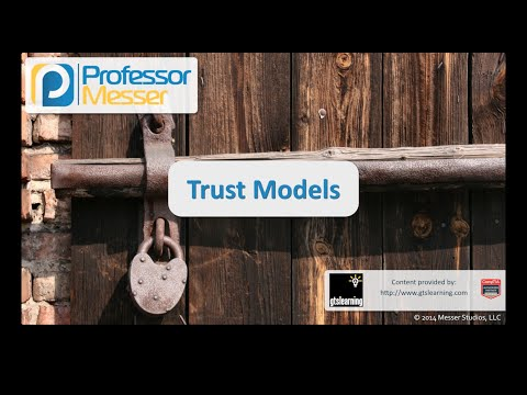 Trust Models - CompTIA Security+ SY0-401: 6.3