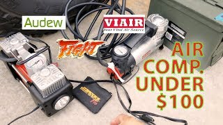Viair vs Audew Air Compressor comparison under $100 for TRUCK tires! 32 33 35? Let's TACO BOUT IT!