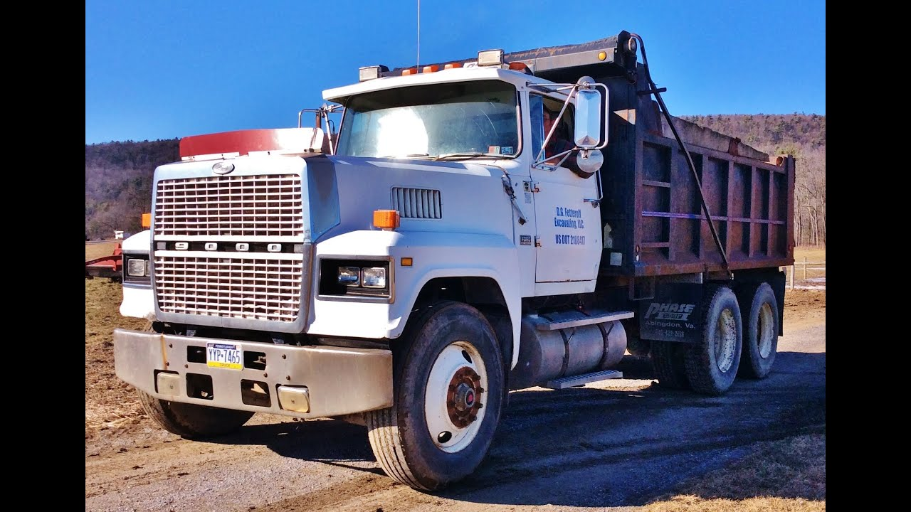 1986 Ford LTL9000 Tandem Dump Truck FOR SALE