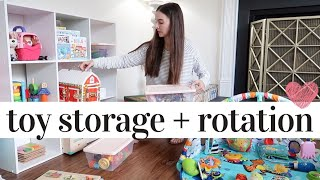 Our Toy Storage + Rotation System For Two Kids 😊❤️👧🏼👶🏼 | Toy Organization Ideas