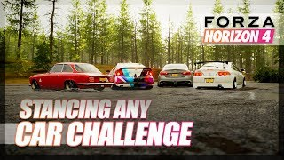Forza Horizon 4 - Will it Stance? Stancing Any Car Challenge