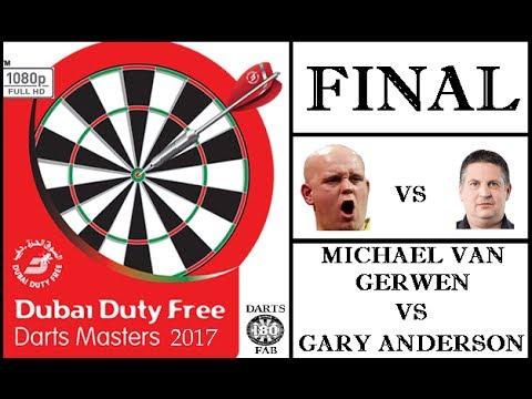 Dubai Darts Masters 2017 HD 1080p - FINAL: Michael van Gerwen vs Gary Anderson 110+ Average!