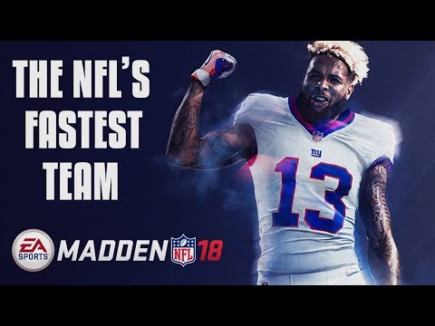 THE NFL SPEED SQUAD! FASTEST PLAYERS AT EVERY POSITION! Madden 18