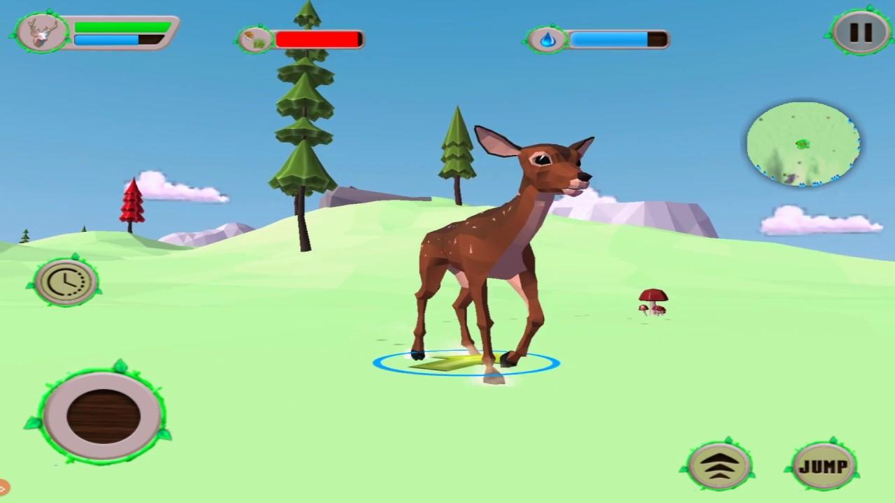 Image of: Lite deer Simulator Fantasy Jungle By Kooky Games Common Sense Media deer Simulator Fantasy Jungle By Kooky Games Youtube