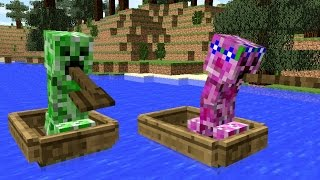 Monster School: Girls vs Boys Rowing Challenge - Minecraft Animation