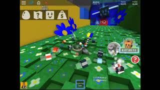 jugando bee swarm simulator