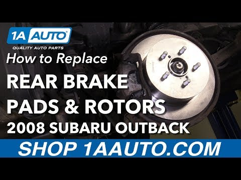 How to Replace Rear Brake Pads & Rotors 04-09 Subaru Outback