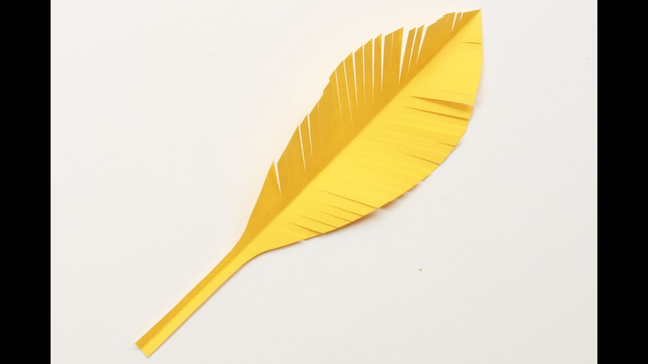 Cómo hacer plumas de papel - YouTube