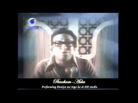 Pancham Asha performing Duniya Me Logon ko at Doordarshan Studio