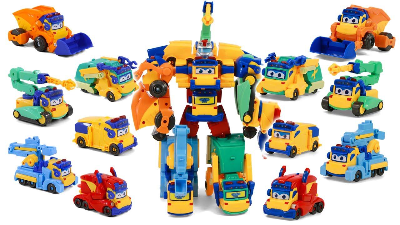 GOGOBUS Mega Construction Builder Six Vehicles Union Robot Toy Transformation