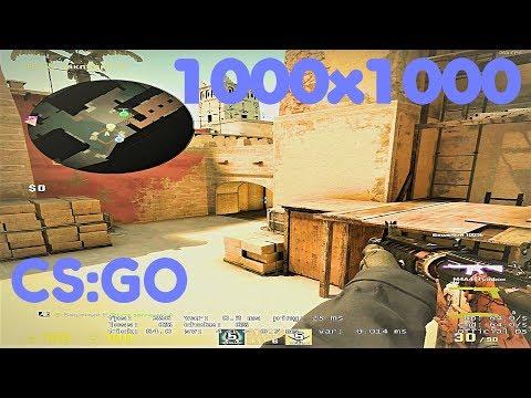 Играем с разрешением 1000x1000 в CS:GO challenge.