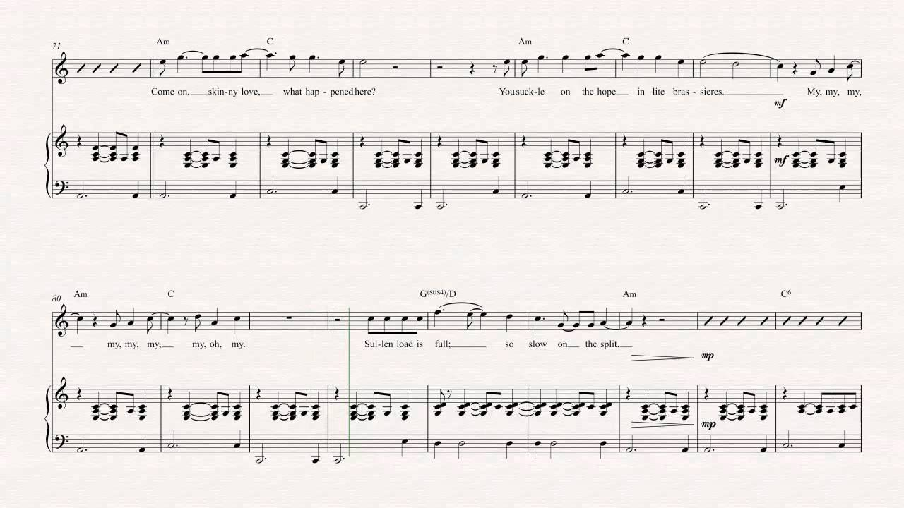 Flute Skinny Love Bon Iver Sheet Music Chords Vocals Youtube