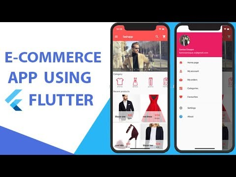 E-commerce App with flutter : 01