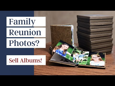 How to sell and package family books from a family reunion photo gig