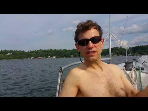 Getting Vitamin D - on Saratoga Lake!