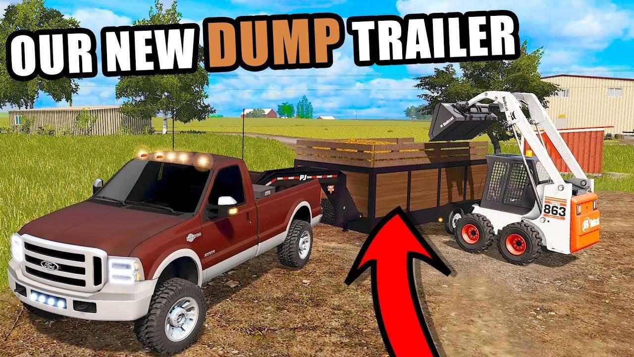 loading-cow-crap-into-our-new-pj-dump-trailer-ep-16-farming-simulator-2017