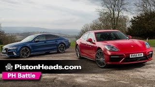 2017 porsche panamera turbo vs audi rs7 inc drag race   ph battle   pistonheads