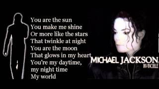 Michael Jackson - You Are My Life (with lyrics)