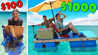 We Built $100 vs $1000 Boat! *FLOAT OR SINK*