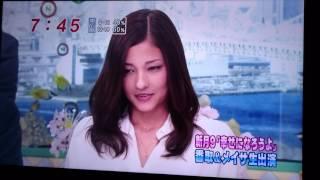2011年に放送されためざましテレビに番宣で出た香取慎吾と黒木メイサです。