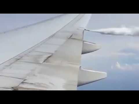 Passenger On Plane Films Chemtrail Nozzle Spraying