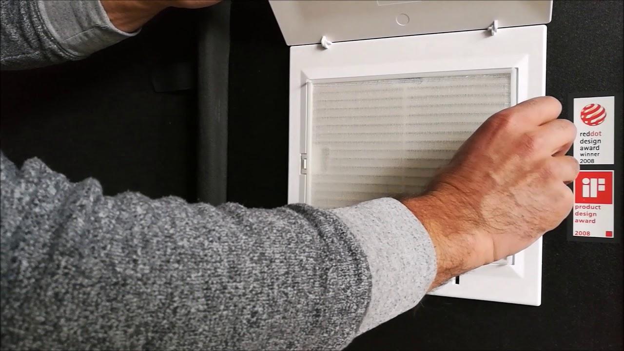 Helios Lufter Ventilator Filter Tauschen Wechseln Els Badlufter Kuchenlufter Youtube