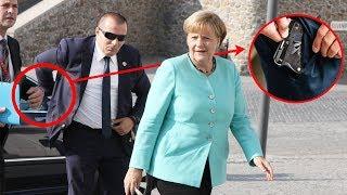 Die geheimen Taktiken von Angela Merkel und ihren Leibwächtern