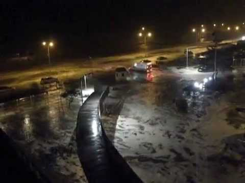 Hurricane Sandy's Mayhem at Far Rockaway New York!