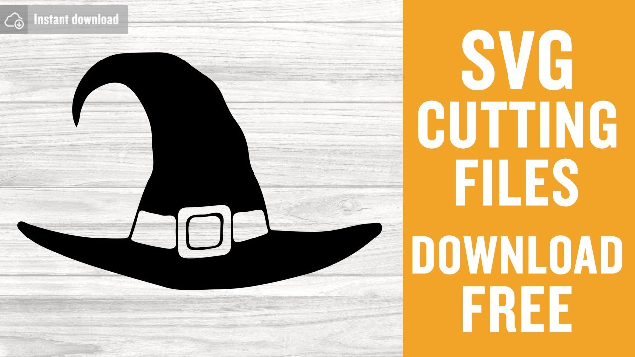 Witch Hat Svg Free Cutting Files For Silhouette Instant Download Youtube